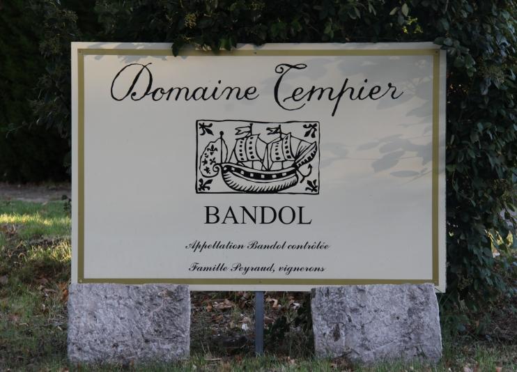 Panneau Domaine Tempier 2000